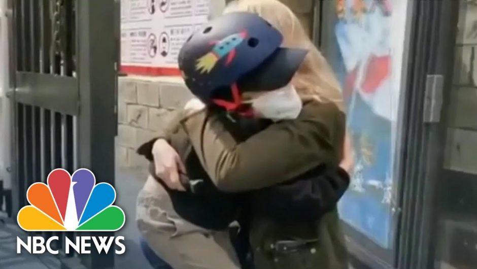 Watch NBC News Correspondent Reunite With Son After Coronavirus Coverage | NBC Nightly News
